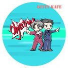 Pin Badge/Button Gyakuten Saiban/Phoenix Wright: Miles and Phoenix (Angel)