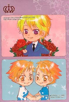 Ouran High School Host Club Card Pouch with Decrative Stickers