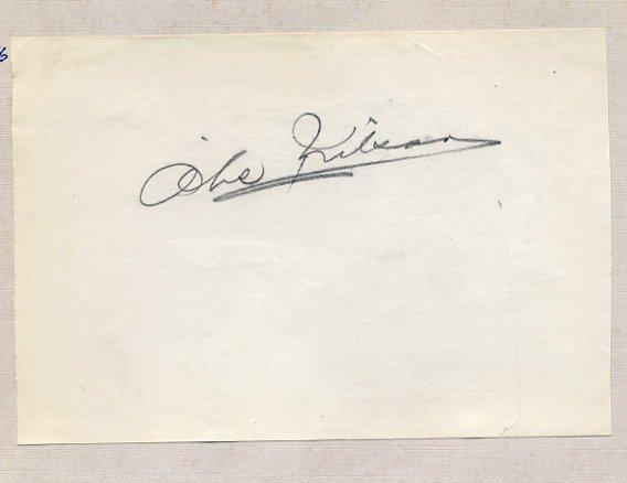 1948-52-56 Alpine Skiing Olympian AKE NILSSON Autograph 1950s