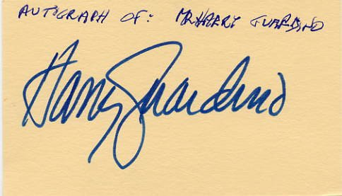 Actor HARRY GUARDINO Hand Signed Card from 1984