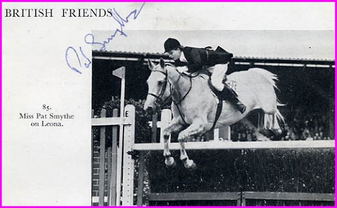 1956 Olympics Equestrian Bronze PAT SMYTHE Signed Vintage Magazine Picture