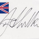 1976 Montreal Swimming Gold DAVID WILKIE Hand Signed Card
