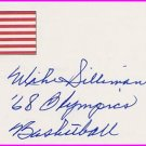 1968 Mexico City Basketball Gold MICHAEL SILLIMAN Hand Signed Card