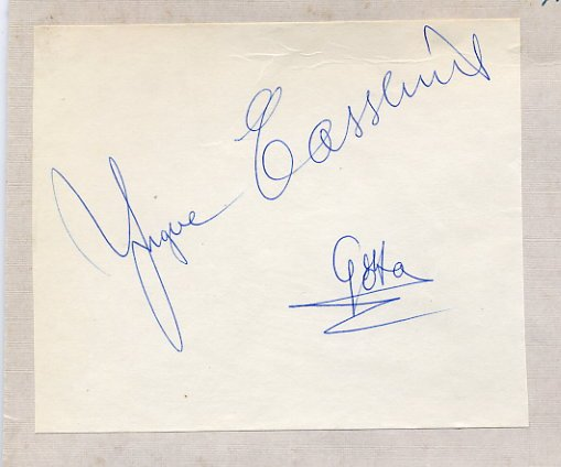 1957 Ice Hockey World Champion YNGVE CASSLIND Autograph