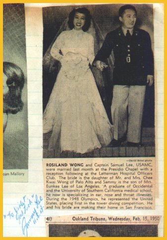 1948-52 Diving Champion SAMMY LEE Signed Scrapbook Page 1950