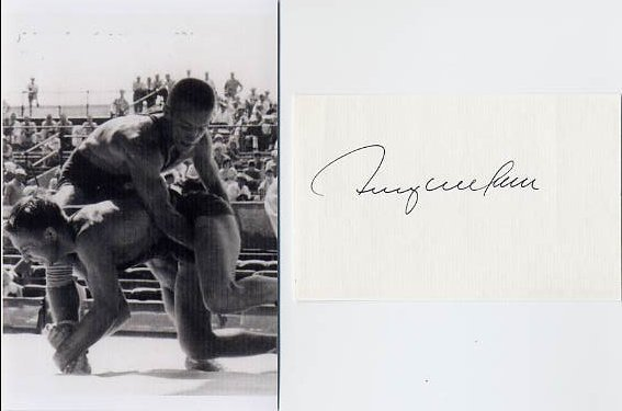 1960 Rome Wrestling Gold TERRENCE MCCANN Autograph & Pict
