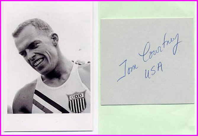 1956 Melbourne 800m Gold TOM COURTNEY Autograph 1957 & Pict