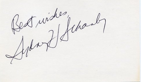 Pulitzer Prize Journalist SYDNEY SCHANBERG Hand Signed Card 1970s
