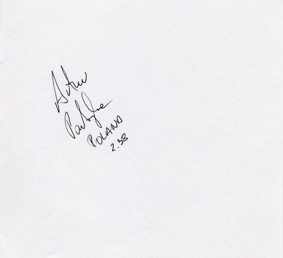 1992-1996 High Jump Medalist ARTUR PARTYKA Autograph '96