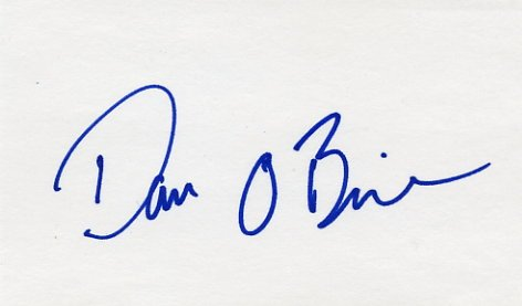 1996 Atlanta Decathlon Gold DAN O'BRIEN Hand Signed Card
