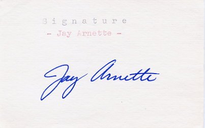 1960 Rome Basketball Champion JAY ARNETTE Autograph 1982