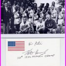 1952 Helsinki Boxing Gold NATHAN BROOKS Signed Card & Pict