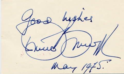 Australian Conductor RICHARD BONYNGE  Autograph 1975