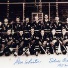 1952 Oslo Ice Hockey Silver DONALD WHISTON Signed Photo