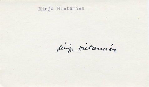 1956 Cortina Nordic Skiing Gold MIRJA HIETAMIES  Autograph