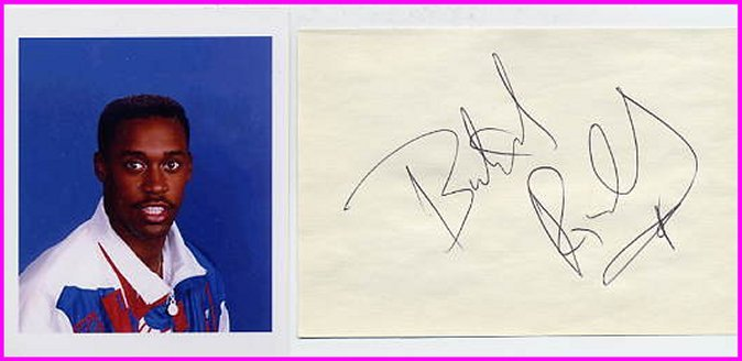 1988 Seoul 4x400m Relay Gold & WR BUTCH REYNOLDS Autograph & Pict