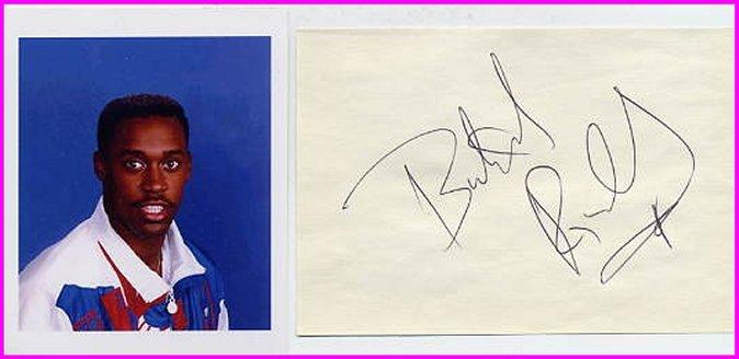 1988 Seoul 4x400m Relay Gold & WR BUTCH REYNOLDS Autograph & Pict