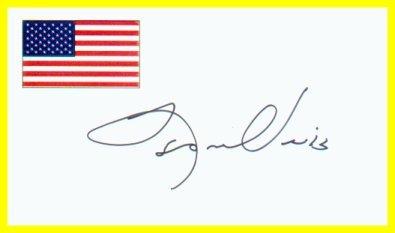 Exodus & Trinity Novelist LEON URIS Hand Signed Card 1996