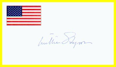 Eminent American Novelist WILLIAM STYRON Hand Signed Card