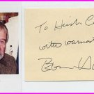 American Author & Screenwriter EVAN HUNTER Hand Signed Card & Pict