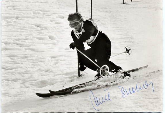 1952 Oslo Alpine Skiing Medalist ANNEMARIE BUCHNER Signed Photo 4x6
