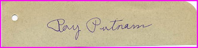 1931 NCAA Mile Champion RAY PUTNAM Autograph 1930