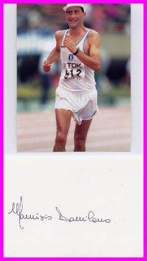 1980 Moscow 20 km Walk Gold MAURIZIO DAMILANO Autograph & Pict
