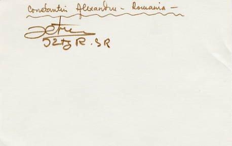 1980 Moscow Wrestling Silver CONSTANTIN ALEXANDRU Autograph 1983