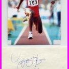 1996 Atlanta Triple Jump Bronze YOELBI QUESADA Autograph & Pict