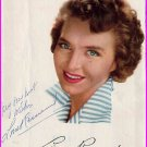 French Actress & Singer LINE RENAUD Autograph 1955