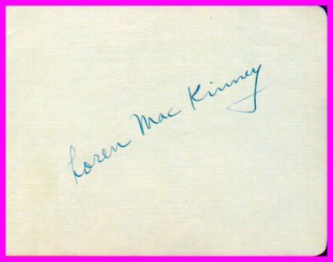 Harvard Crimson Football Star LOREN MacKINNEY Autograph 1940s