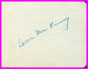 Harvard Crimson Football Star LOREN MacKINNEY Autograph 1940s