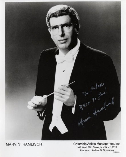 Composer & Conductor MARVIN HAMLISCH Hand Signed Photo 8x10