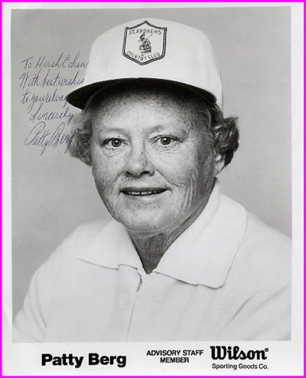 Golf Great PATTY BERG Hand Signed Photo 8x10