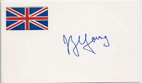 Famous English Biologist JOHN ZACHARY YOUNG Hand Signed Card