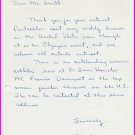 1964 Tokyo Modern Pentathlon Silver JAMES MOORE Autograph Letter Signed 1964