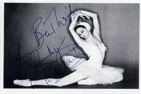 Prima Ballerina Dame MERLE PARK Hand Signed Photo