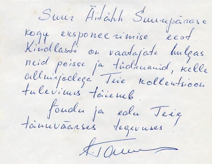 1972 Munich High Jump Gold JURI TARMAK Autograph Letter Signed