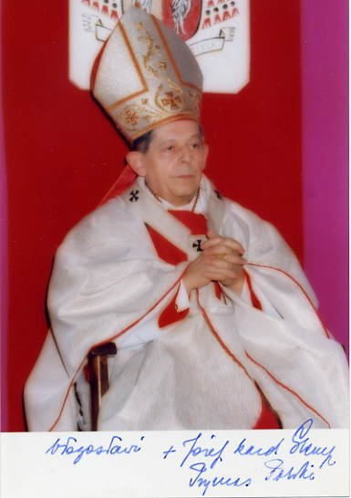 (Poland) Jozef Cardinal Glemp Hand Signed Photo 4x6