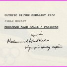 1968 Mexico City Field Hockey Gold MOHAMMAD ASAD MALIK Autograph