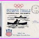 1964 Tokyo Canoeing Bronze MARCIA JONES Hand Signed Cover 1968 & Pict
