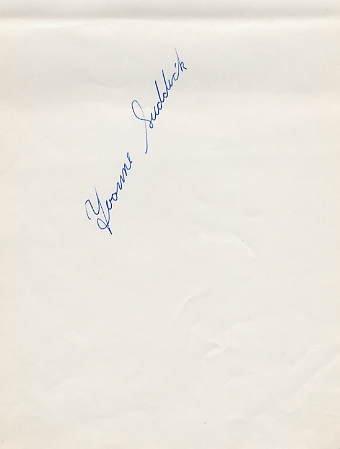 1967-68 World Ice Dance Medalist YVONNE SUDDICK Autograph 1968