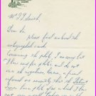 1956 NCAA Steeplechase Champion HENRY KENNEDY Autograph Letter Signed