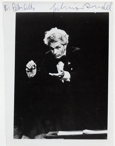 Austrian-American Conductor JULIUS RUDEL Hand Signed Photo