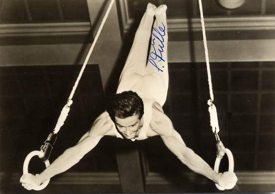 1964 & 1968 Gymnastics Bronze SIEGFRIED FULLE Hand Signed Photo