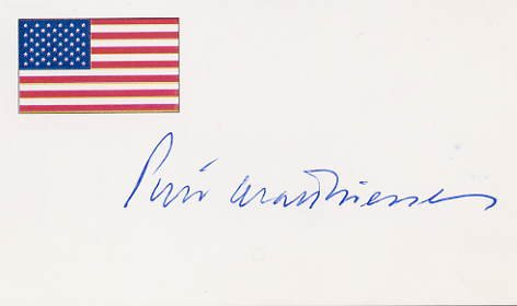 American Naturalist & Author PETER MATTHIESSEN Hand Signed Card from 1995