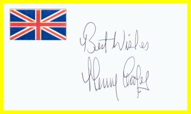 Former Heavyweight Boxing Champion HENRY COOPER Hand Signed Card from 1996
