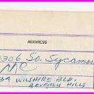 College Football HOF ERNY PINCKERT Autograph Note Signed 1950