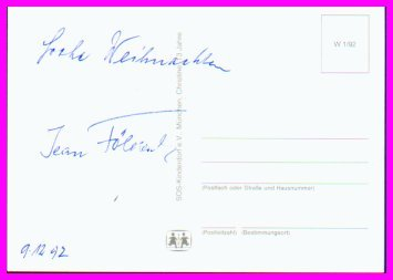1932 Los Angeles Wrestling Silver JEAN FOLDEAK Hand Signed Postcard 1992
