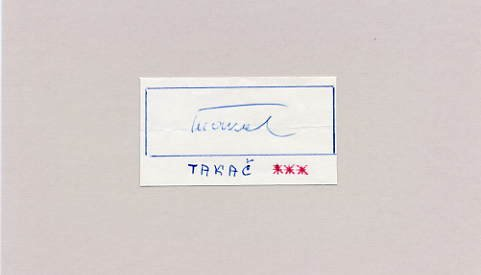1960 Rome Football Gold SILVESTER TAKAC Autograph 1961